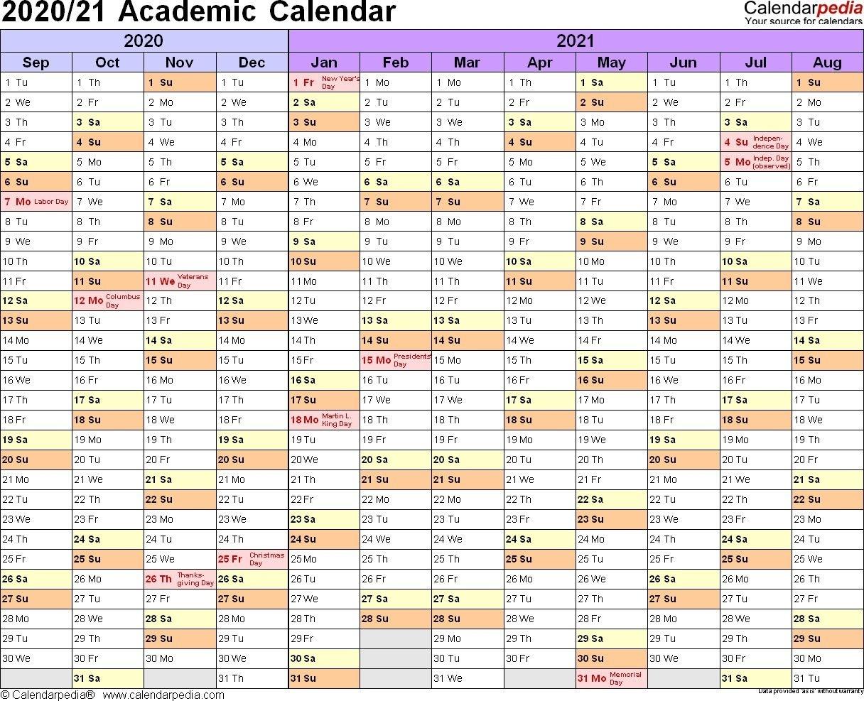 2021 And 2020 Calendar Printable Academic In 2020 | School