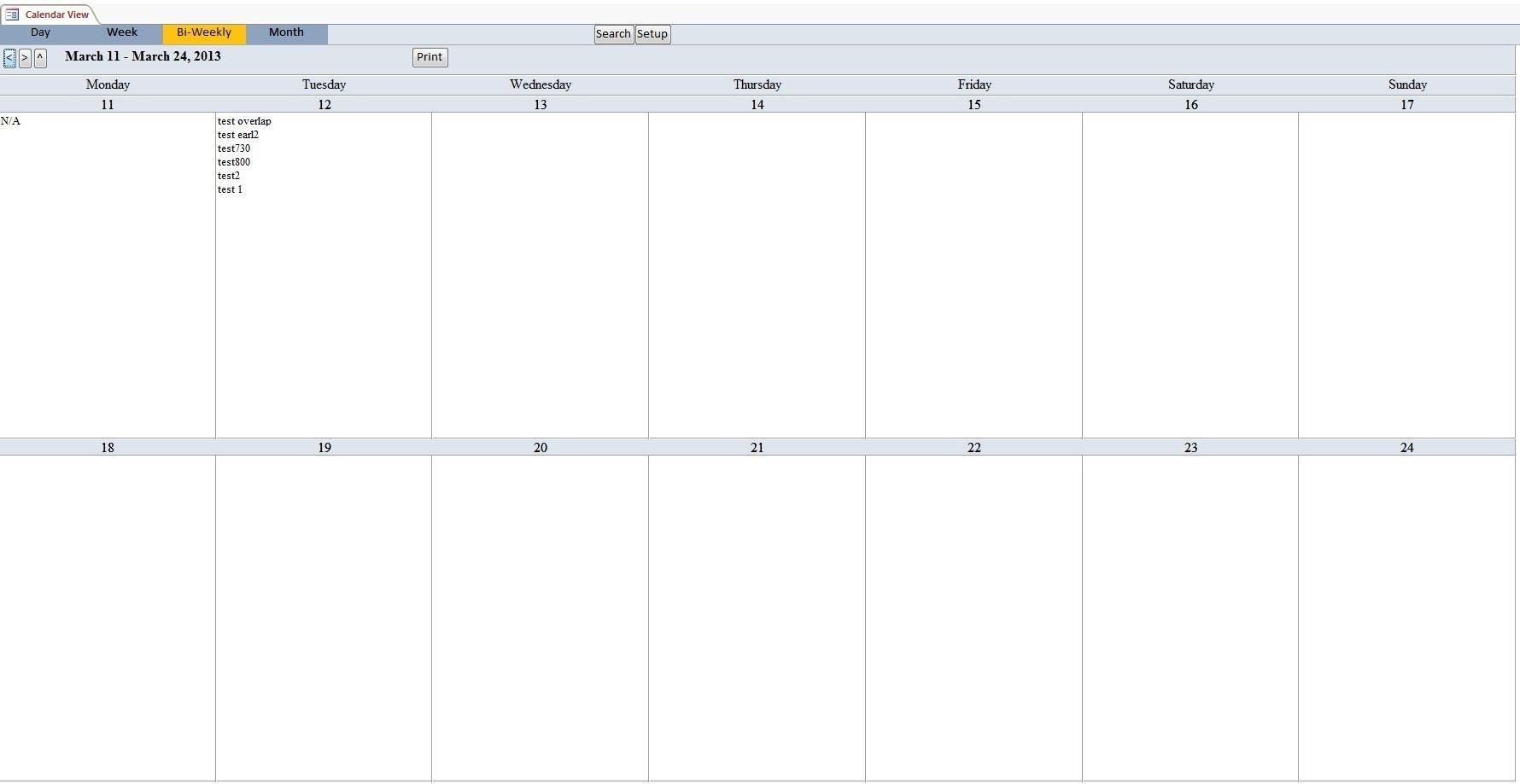 Bi-Weekly+Calendar+Template (With Images) | Calendar