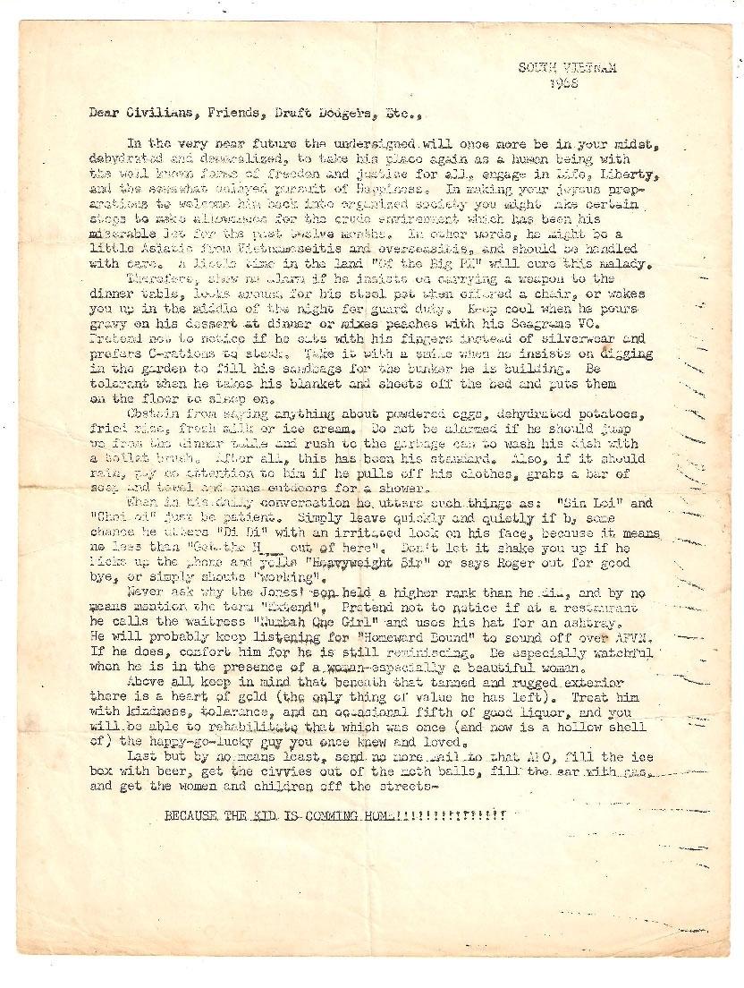 Short Timer Letter | 327Th Infantry Veterans