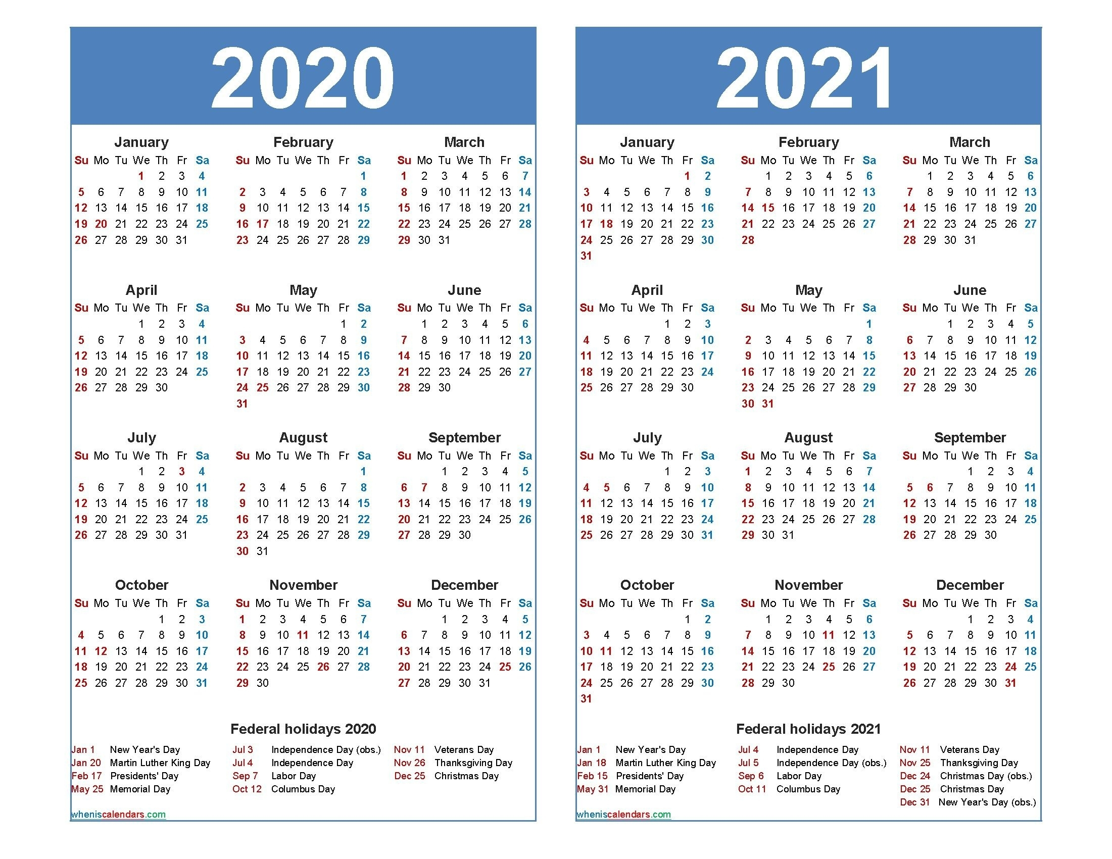Blank 2021 Calendar Pdf Free Printable | Printable Calendar