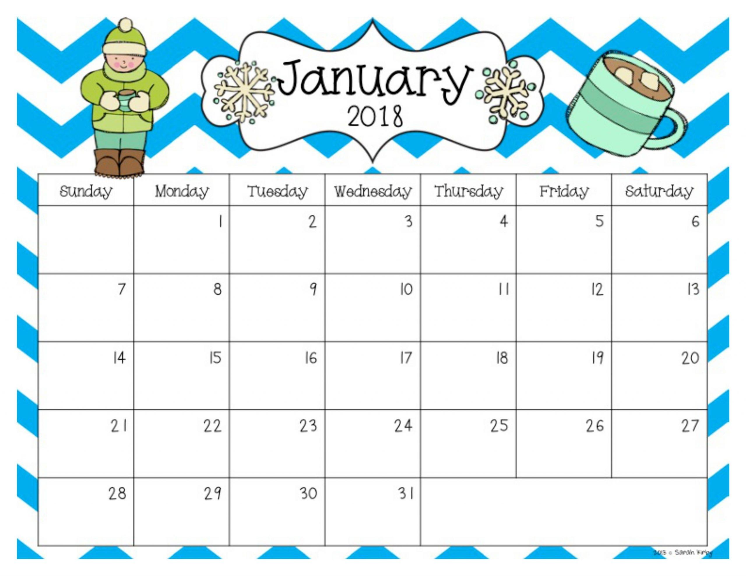 Free 2018 And 2019 Calendar | Editable Calendar, Teacher