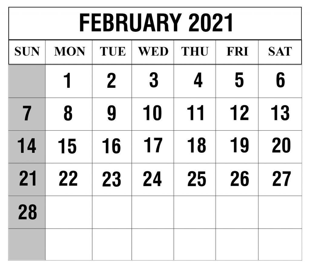 Free Printable 2021 February March Calendar   Calendar