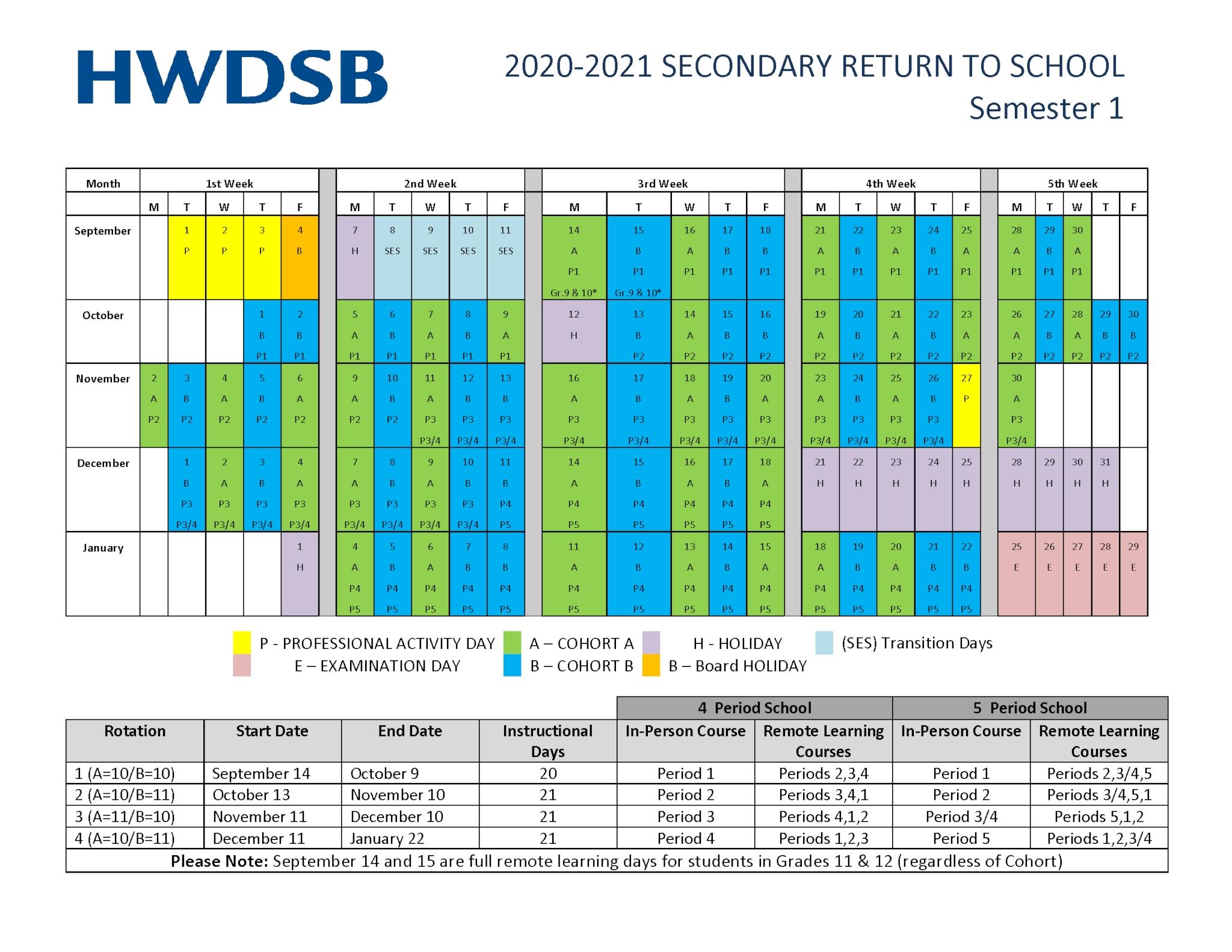 School Year Calendar | Hamilton-Wentworth District School Board