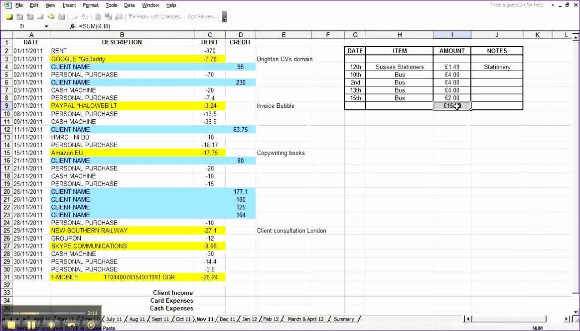 10 Annual Budget Template Excel - Excel Templates - Excel