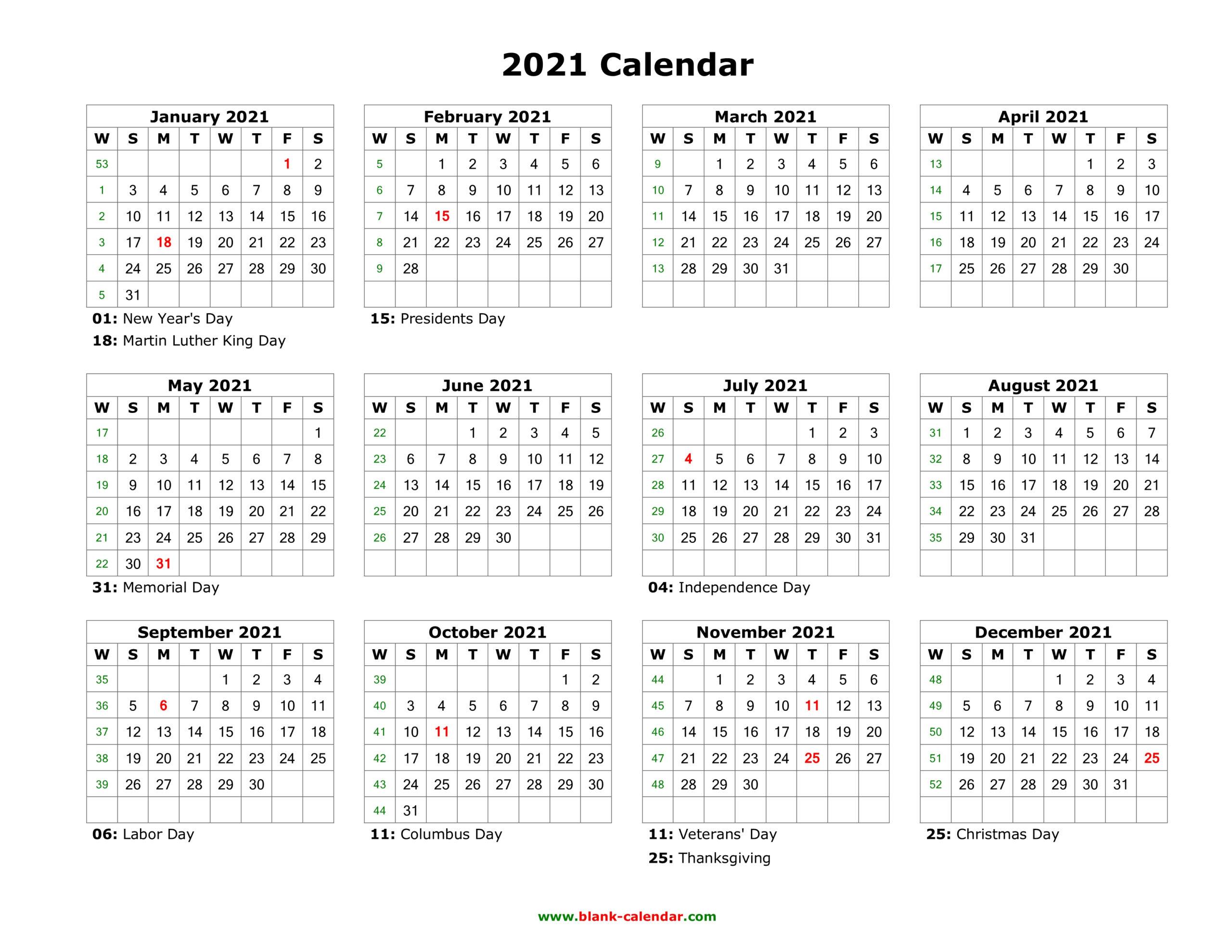 2021 Calendar In Excel By Week | Calendar Printables Free