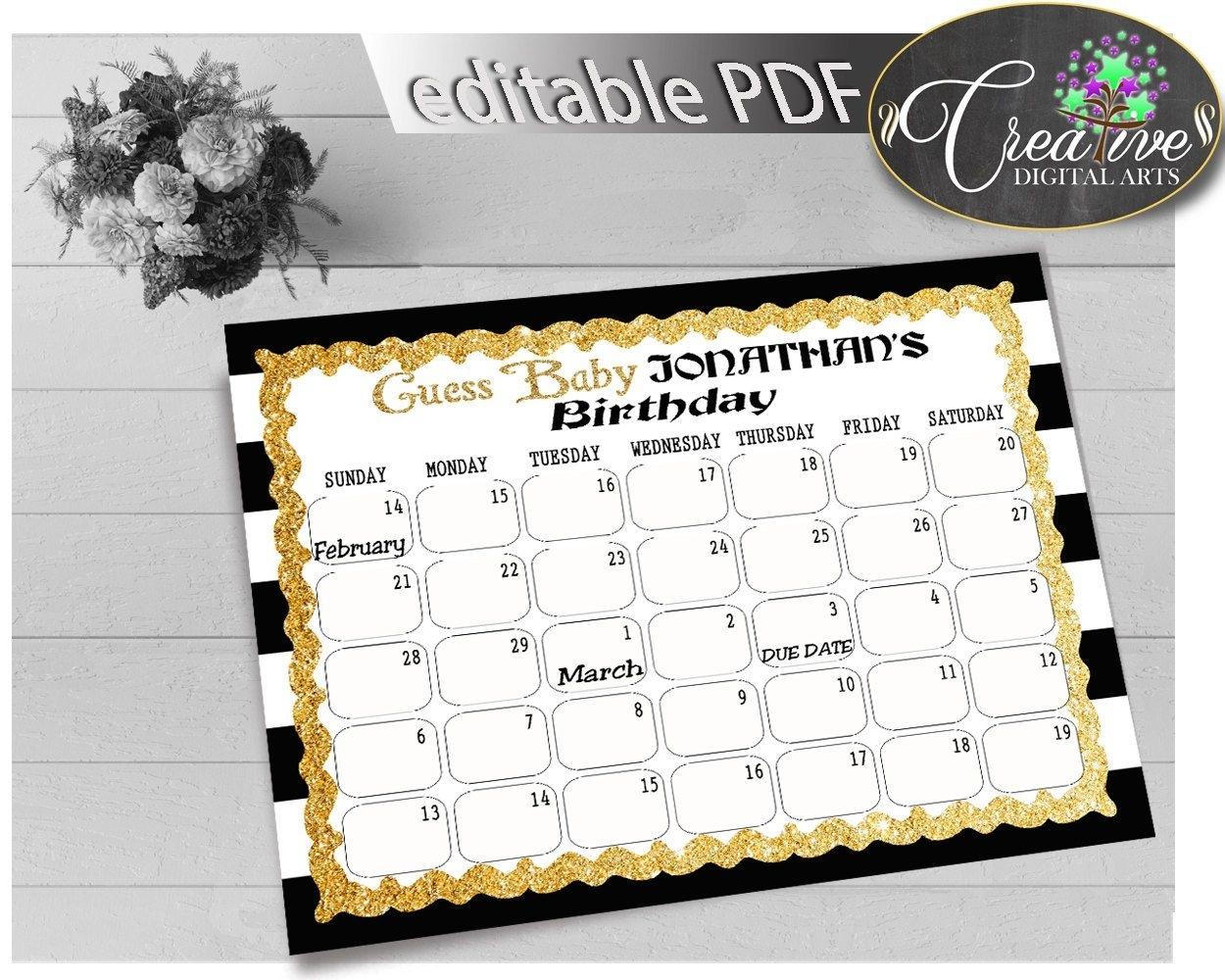 Due Date Guess February Calendar | Calendar Template 2021